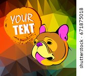 bulldog  dog  animal  french ...   Shutterstock .eps vector #671875018