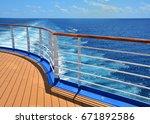 Cruise Ship Stern. Wake At...