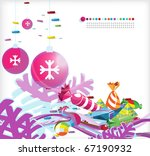 new year and christmas image... | Shutterstock .eps vector #67190932
