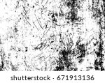 grunge background with old wood ... | Shutterstock . vector #671913136