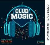 music live concert poster | Shutterstock .eps vector #671918320