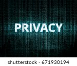 text privacy on background with ... | Shutterstock .eps vector #671930194