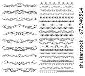 ornamental rule line in a... | Shutterstock .eps vector #671940514
