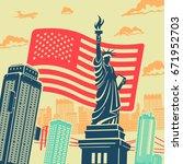 statue of liberty vector...   Shutterstock .eps vector #671952703
