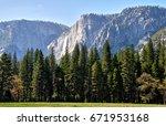 Waterfall View Of The Yosemite...