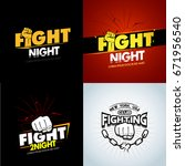 4 modern professional fighting... | Shutterstock .eps vector #671956540
