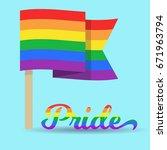 flat rainbow pride flag.   Shutterstock .eps vector #671963794