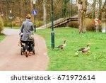 ducks in the city of malmo ... | Shutterstock . vector #671972614