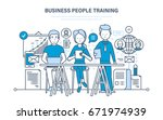 business people training ... | Shutterstock .eps vector #671974939