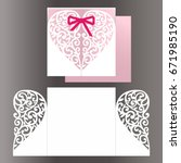 white cutout invitation for... | Shutterstock .eps vector #671985190