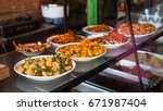 traditional balinese food in a... | Shutterstock . vector #671987404