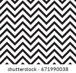 popular vintage zigzag chevron... | Shutterstock .eps vector #671990038