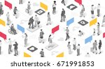 people businessperson marketing ... | Shutterstock .eps vector #671991853