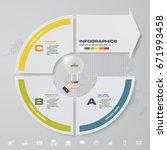 modern 3 steps with arrow... | Shutterstock .eps vector #671993458