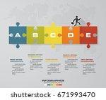abstract 5 steps chart for data ... | Shutterstock .eps vector #671993470