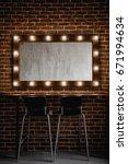 a makeup mirror with light...   Shutterstock . vector #671994634