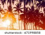 copy space of silhouette... | Shutterstock . vector #671998858