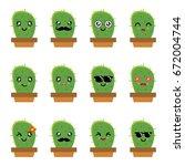 Cactus Smile Cute Emoticon...