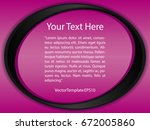template pink  black and white... | Shutterstock .eps vector #672005860