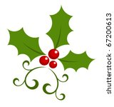 christmas holly berry symbol....   Shutterstock .eps vector #67200613