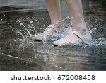 closeup of legs feet of working ...   Shutterstock . vector #672008458