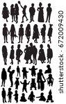 children silhouettes   Shutterstock .eps vector #672009430