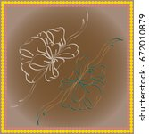 set hand drawn bows isolated on ... | Shutterstock .eps vector #672010879