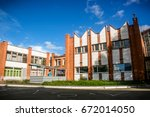 building of a kindergarten | Shutterstock . vector #672014050