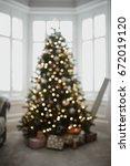 Defocused Christmas Tree In A...