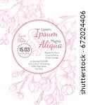 invitation bridal shower card...   Shutterstock .eps vector #672024406