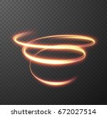 glowing spiral effect on... | Shutterstock .eps vector #672027514
