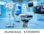 equipment and medical devices... | Shutterstock . vector #672030043