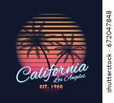 80s style vintage california... | Shutterstock .eps vector #672047848