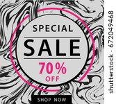 sale square vector banner... | Shutterstock .eps vector #672049468