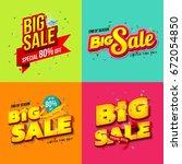 sale banner template design ... | Shutterstock .eps vector #672054850