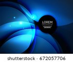 overlapping circles on glowing... | Shutterstock .eps vector #672057706