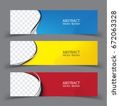 set of banner templates. ... | Shutterstock .eps vector #672063328