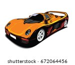 sport car  | Shutterstock .eps vector #672064456