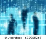 blur abstract business team | Shutterstock . vector #672065269