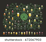 beer styles map for bars.... | Shutterstock .eps vector #672067903