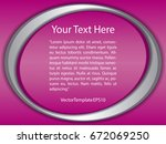 template pink  silver and white ... | Shutterstock .eps vector #672069250