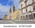 facade of the basilica at the... | Shutterstock . vector #672071638