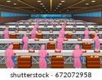a vector illustration of... | Shutterstock .eps vector #672072958