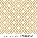 abstract geometric pattern with ... | Shutterstock .eps vector #672074866