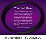 template purple  black and... | Shutterstock .eps vector #672082600