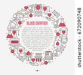 blood donation concept in... | Shutterstock .eps vector #672090748