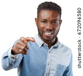angry black man | Shutterstock . vector #672096580