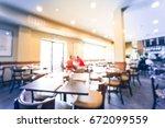 blurred interior a vietnamese... | Shutterstock . vector #672099559