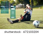 sport  sports injury and people ... | Shutterstock . vector #672103204