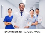 clinic  profession  people ... | Shutterstock . vector #672107908